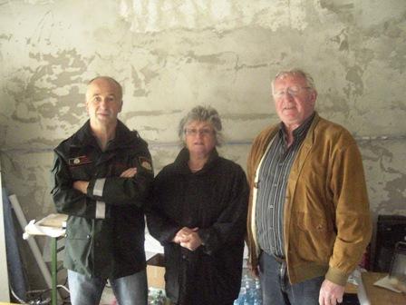 Die Belegschaft der K+L Peilstein mit dem ehemaligen Obmann (rechts)